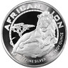 2017 Niue $2 African Lion 1 oz .999 Silver BU Round Proof-Like Bullion Coin