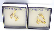 Gold Tone T and V Initial Brooch Pins 🎇 2 New in Box Anne Klein Ii