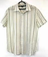 Paul Smith Mens Short Sleeve Cotton Shirt Size L Buttons Down Classic Fit VGC