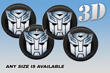 AUTOBOT domed wheel center cap decals emblems stickers 4 pcs ~ ANY SIZE ~ s/b