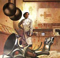 VTG Art Print Asimov Robot Susan Calvin Robopsychologist Sci-Fi Female Scientist