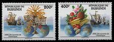 Burundi 1992 - Mi-Nr. 1756-1757 ** - MNH - Schiffe / Ships - Columbus