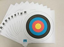 F.I.T.A Approved Reinforced Archery 60cm Target Paper Faces - QTY 10