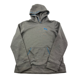 Puma Boy's Hoodie Sweater L Large Gray Blue Athletic Youth 14/16