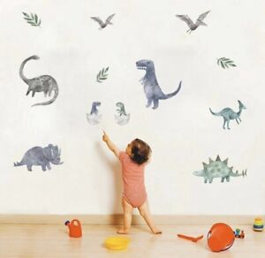 Watercolour Dinosaurs Wall Decals Stickers Boys
