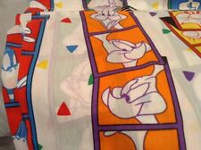 LOONEY TUNES Twin Flat & Fitted Sheet Set Vintage 1993