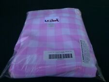 """LA Linen Polyester Checkered 90"""" by 156"""" Rectangular Tablecloth Pink & White"""