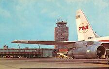 1958 Airport, TWA Airliner, Columbus, Ohio Postcard