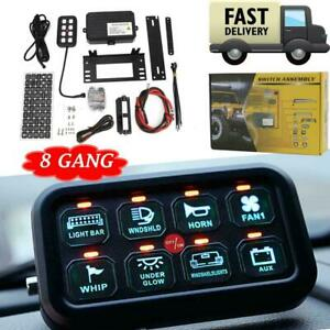 Universal 8-Gang LED Touch Switch Panel Control System 12V 24V Auto Boat SUV Car