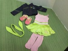 "American Girl 18""Doll Clothes Lot 7pcs Denim Stitched Jacket Shoes & outfit MINT"