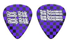 Cheap Trick Tom Petersson Purple Black Checkerboard Guitar Pick - 2016 Tour