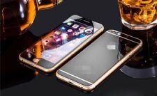 für Apple iPhone 5/5s SE Spiegel Effekt Panzerglas vorne/hint. Glasfolie schwarz