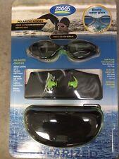 NEW NIB ZOGG Ploarized Lenses Swim kit ( ITALIAN LENSES)EAR PLUG SWIM CAP &CASE