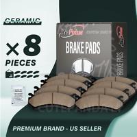 FRONT & REAR Ceramic  Brake Pads for 2014-16 Subaru Forester  2013-17 Crosstrek