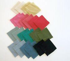 Vintage Wool Quilt Craft Squares Solid Colors 22pcs 5x5