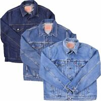 MENS VINTAGE EX-HIGHSTREET DENIM HEAVY DUTY CLASSIC CASUAL DENIM JACKET S-4XL