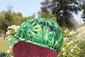 CYCLING CAP CANNABIS ROLL OUT HANDMADE IN USA   S M L
