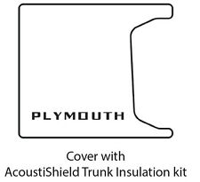 1955 1956 Plymouth Cpe / Sdn Car Trunk Rubber Floor Mat Cover w/ ME-325 Plymouth