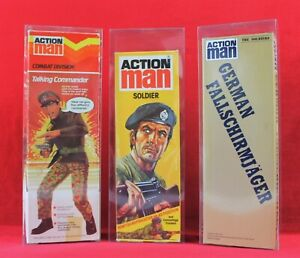 """Action Man 12"""" figure clear display box (Qty x10 cases)   Single version"""