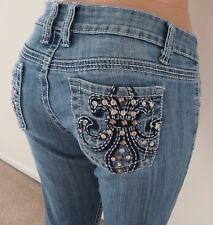 Francesca's Closet Rhinestone Fleur De Lis Skinny Jeans Size 30*