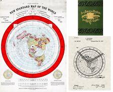 Flat Earth Map Gleason's 1892 New Standard Map of the World Alexander Gleason