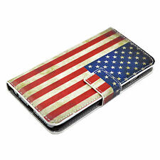 """US Flag Magnetic PU Leather Phone Case Cover Stand For Apple iPhone 6 6S 4.7"""""""