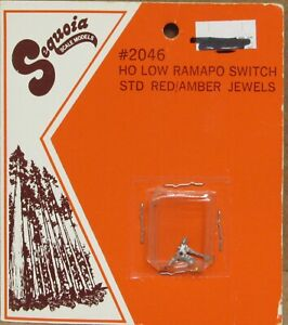 Sequoia Scale Models 2046 Low Ramapo Switch Stand (Red/Amber) HOn3/HO-Scale NOS