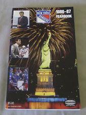 Original NHL New York Rangers 1986-87 Official Hockey Media Guide