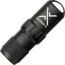 """Exotac MATCHCAP XL 001200BLK Survival Match Case with Strikers. 3.60"""" overall le"""