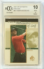 2001 Tiger Woods SP Authentic Preview AG #51 BCCG MINT (10)