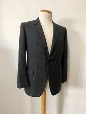 Vintage 1960's Men's Grey Pinstripe Suit Jacket Retro Business Atomic Age