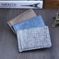 Casual Men Business Leather Wallets ID Credit Card Wallets Magic Money Clips