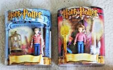 2 HARRY POTTER MOVIE ACTION FIGURES: HARRY & HERMIONE GRANGER (MATTEL) BRAND NEW