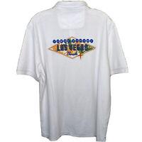 Tommy Bahama Island Zone Passport to Paradise Las Vegas Polo Shirt Sz L NWT