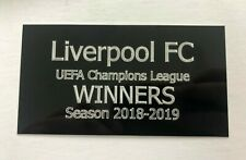 Liverpool FC Champions League Winners - Engraved Plaque for Framing with Medal