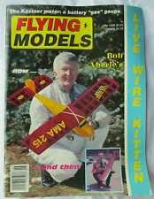 Flying Models Magazine June 1996 Planes Boats Cars Live Wire Kitten Bob Aberle