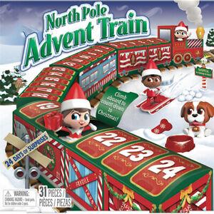 Christmas Countdown Advent Train Calendar DIY Calendar 24 Days Doll Gift Toy Box