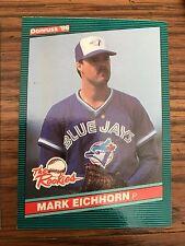 1986 Donruss the Rookies Mark Eichhorn Toronto Blue Jays 13