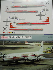 Ilyushin IL-18 Interflug / CZ, 1/144, AZ Model, Plastic Model kit
