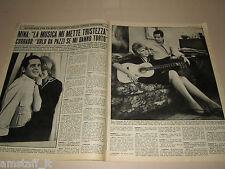 MINA MAZZINI cantante clipping ritaglio articolo foto fotografia 1965 PANI