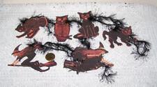 Halloween~Vintage~Paper Die Cuts~Linen Cardstock~Gift~Hang~Tags~Ornies~Set 6