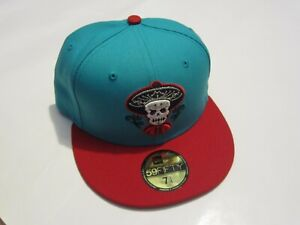 Albuquerque Isotopes Mariachis Teal / Red New Era 59Fifty Hat 7 1/4 NEW! MiLB