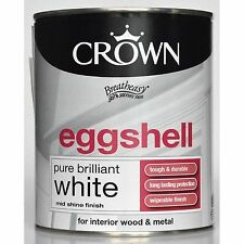 Crown Eggshell Pure Brilliant White - Wood & Metal  99% Solvent Free Paint 2.5L