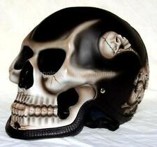 Motorcycle Helmet Skull Skeleton Death Ghost Rider Full Face Airbrush 3D New