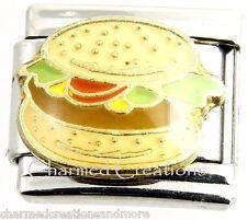 9mm Italian Charm Modular Link Hamburger Cheeseburger BBQ Fast Food Burger