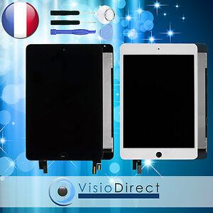 Ecran complet pour iPad Mini 4 blanc/noir vitre tactile + ecran LCD + outils