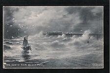 L@@K  The North Pier Blackpool 1907 Raphael Tuck Postcard