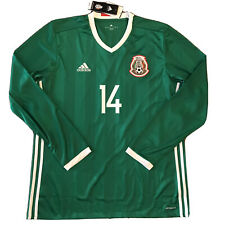 2016/17 Mexico Home Jersey #14 Chicharito XL Adidas Long Sleeve Soccer NEW