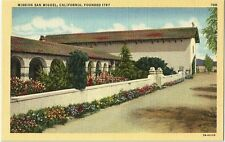 Old Vintage Postcard Mission San Miguel, California, Founded   USA 1915 WWI Era