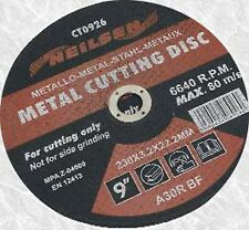 22.9cm/230mm abrasivo Disco Cortador De Metal Hoja de sierra